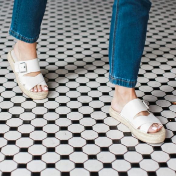 Marc Fisher Shoes - Marc Fisher LTD Venita White slip on slide sandals